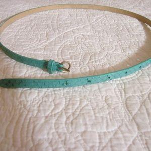 J. Crew M Belt Green Faux Snake Skin Leather 30257